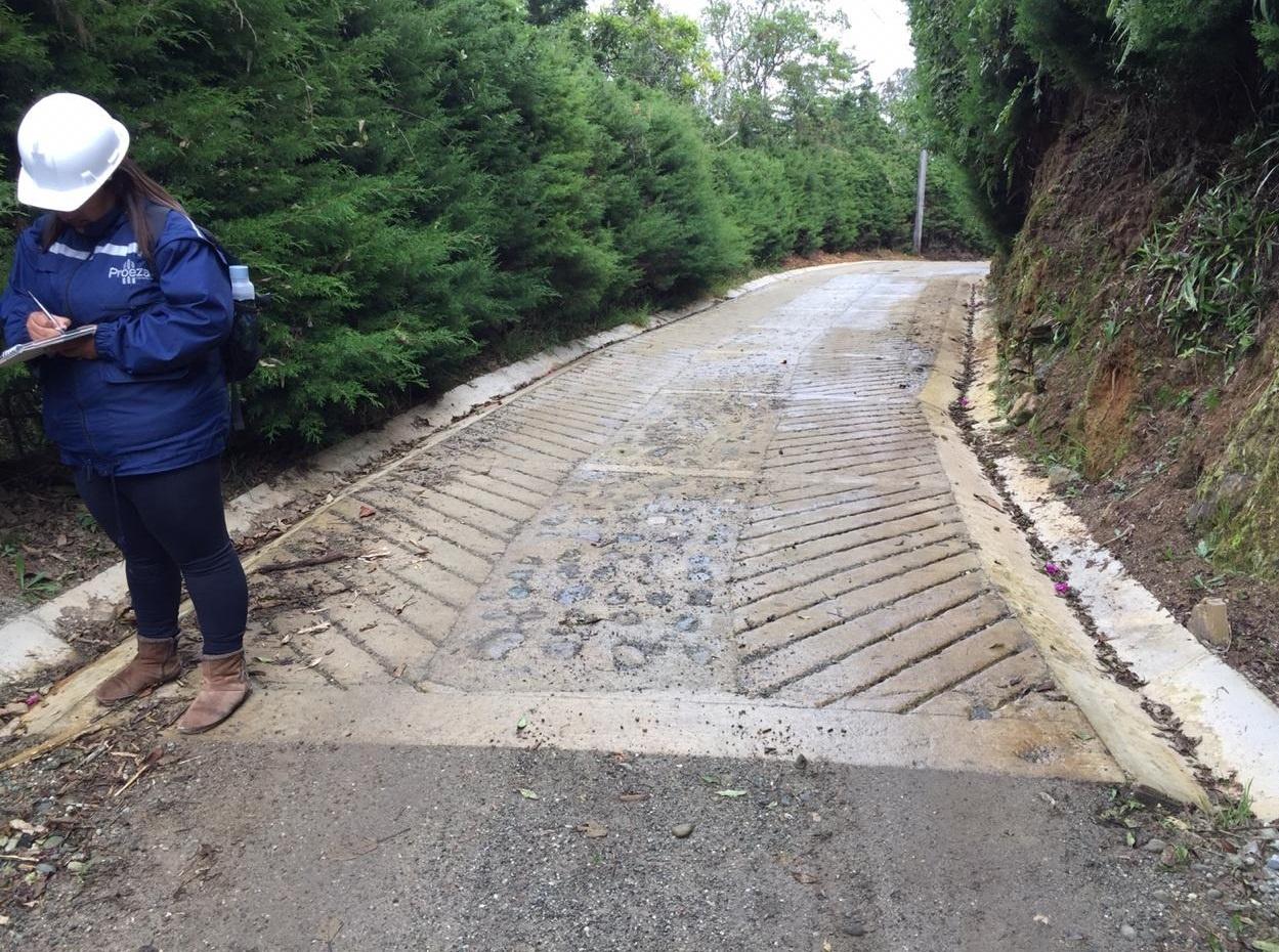 Placa huella - municipio de Rionegro - Antioquia